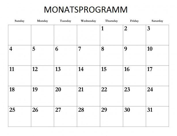 Monatsprogramm – September 2017